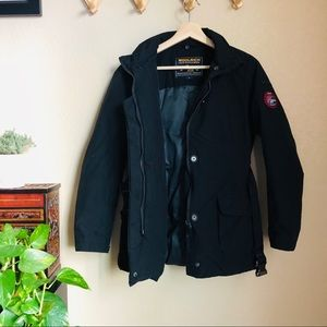 「Woolrich」Black Down Feather Winter Coat